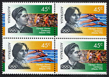 1996 Olympic Games Centenary Atlanta Block of Four MUH Mint Stamps Australia