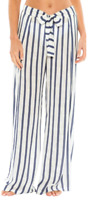 BECCA Navy Serengeti Striped Tie-Front Cover-Up Pants, US Medium, NWOT
