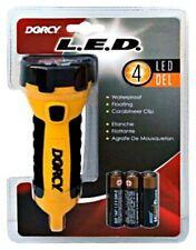 Dorcy 41-2510 Waterproof Floating 4 LED Flashlight with 3 AA Batteries