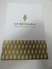 Luminara Real Flame Effect Candle Glass Berry Ornament with Remote NIB