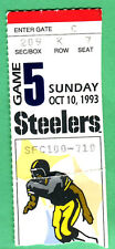 10/10/93 STEELERS/CHARGERS TICKET STUB