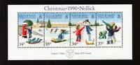 ISLE OF MAN MNH UMM STAMP SHEET 1990 CHRISTMAS SG MS463
