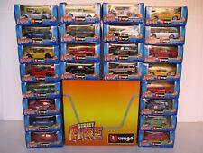 STOCK 24 AUTOMODELLI ASSORTITI 1:43 BOX GIALLO BBURAGO ITALY