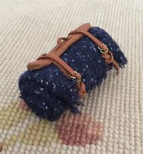 Pat Tyler Dollhouse Miniature Leather Strap Wool Blanket Bed Roll p350