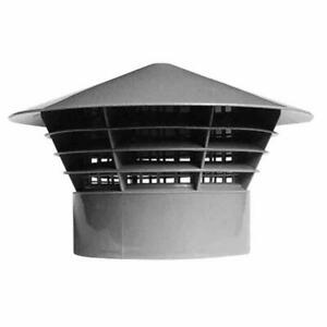 """Vent Cowl Cap 110 mm - Grey - Grill, Cover, Soil Stack, Vent Cage, Rain Hat 4"""""""