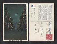1932 MILE OF CHRISTMAS TREES KIWANIS CLUB OF PASADENA CALIFORNIA POSTCARD