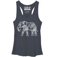 Womens Chin-Up Zen Elephant Racerback Tank Shirt New M, XL