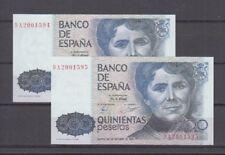 500 PTAS ROSALIA DE CASTRO. SERIE 9A