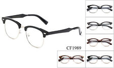 Designer Clear Lens Glasses Retro Nerd Frames Mens Womens Eyewear Fashion UV100%