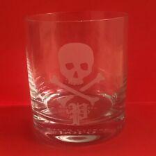 Polo Ralph Lauren Skull Crossbones Whiskey Glass Old Fashioned Barware Tumbler