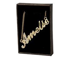 """Collar de nombre """"Amelie"""" - Chapado en Oro 18ct-hecho con Swarovski Elements-Regalos"""