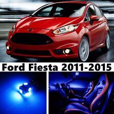 11pcs LED Blue Light Interior Package Kit for  Ford Fiesta 2011-2015