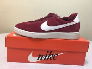 Nike Bruin Low Suede Team Red White 845056-600 Men's Sz 8 Skate Basketball Shoes