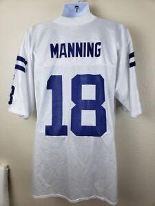 Reebok Indianapolis Colts Peyton Manning White Jersey #18 size Large