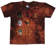 Marvel kids Mad Engine Hero Portraits Brown Tee Size 7, 100% Cotton T-Shirt