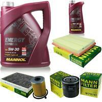 Motor-Öl 6L MANNOL 5W-30 Combi LL+MANN-FILTER Filterpaket Filterpaket