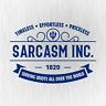 SARCASM INC. Sarkasmus Ironie Spaß Fun Blau Auto Vinyl Decal Sticker Aufkleber