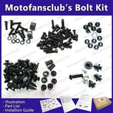 For Yamaha R1 2004-2006 04 05 06 Complete Full Fairing Bolt Kit Black GM