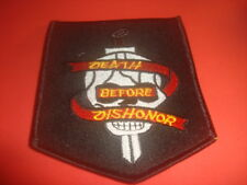 DEATH BEFORE DISHONOR Skull with Sword Military-Motorcycle Shoulder Patch