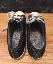 Vintage 50s Converse Full Sponge Insole Canvas Basketball Black Low-Top Shoes.