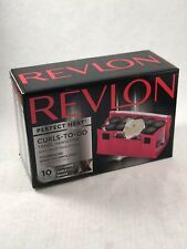 Revlon Perfect Heat Curls To Go Travel Hairsetter 10 Easy Wrap Rollers Curlers