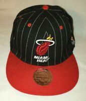 Miami Heat Mitchell & Ness NBA Snapback Hat Cap HWC Hardwood Classics Adjustable