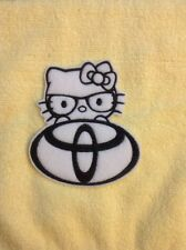 hello kitty toyota embroidered patch/appliqué