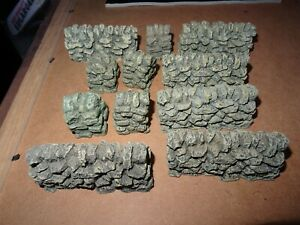 JG MINIATURES - King & Country - 11 x Scenic Stone Wall  Sections