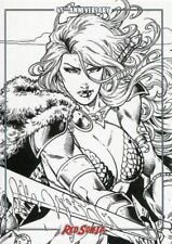 Red Sonja 45th Anniversary Line Art By V Ken Marion Chase Card 3 Of 3