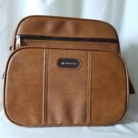 Vintage Samsonite Brown Tan Carry On Bag Luggage Suitcase Satchel Atlantic