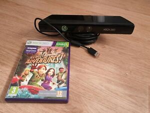 Official Xbox 360 Kinect Sensor, Tested, With Kinect Adventures Game