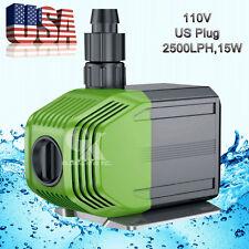 110-120V,660GPH Submersible Water Pump  15W Fish Tank Aquarium Pond Fountain