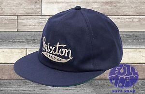 New Brixton Gomez Navy Strapback  Mens Hat Cap