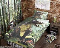 T-Rex Jurassic Dinosaur Duvet Cover/Quilt Cover Set Bedding Single/Double Multi