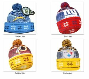 NFL Ugly Light Up Printed Beanie Hat -Select- Team Below