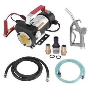 Electric Fuel Transfer Pump Diesel Kerosene Oil Auto 12V with Inlet/Outlet Hose