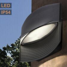 Design LED Außen Bereich Wand Leuchte UP DOWN ALU grau Grundstück Garten Lampe