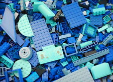 Azure 50 Lego Bricks Plates Blue White Sea//Ocean//Water Bulk Parts//Pieces Lot