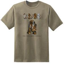 Mens Star Wars R2-D2 Rock N Roll Music T Shirt Han Solo Jedi Sith Movie Retro