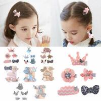 5Pcs/set Cute Hairpin Baby Girl Hair Clip Bow Flower Mini Barrettes Kids Infant