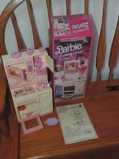 Vtg 1987 BARBIE Doll SWEET ROSES Cooking Center Stove w/ Box Instructions (g115