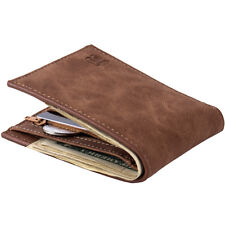Baborry Men's Leather Credit Card Holder Clutch Bifold Coin Purse Wallet Pockets