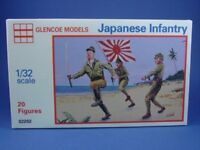 GLENCOE MARX WWII Japanese Infantry Playset TAN 20 Toy Soldiers Recast Army Men