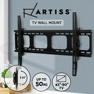 Artiss TV Wall Mount Bracket Tilt Flat Slim Motion LED LCD 42 55 65 75 90 Inch