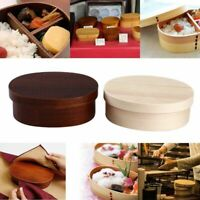 Japanese Style Wooden Bento Box Portable Picnic  Food Container 3 Grids Lunchbox