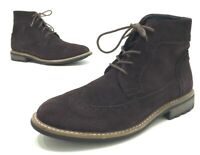Joseph Abboud Lewis Mens Brown Suede Chukka Wingtip Boots Size 8.5