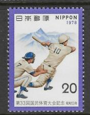 JAPAN 1978 NATIONAL ATHLETICS BASEBALL 1v MNH