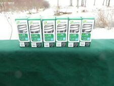 6- Greenlite 13W 60W Soft White Spiral CFL compact fluorescent light bulbs 2700K