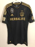 2012-13 LA GALAXY 3RD TECHFIT PLAYER ISSUE SHIRT SIZE 6 BLACK GOLD MINT NWOT!