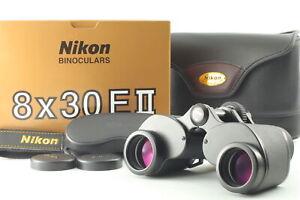 【 Almost UNUSED w/Strap in Case & BOX 】 Nikon Binoculars 8x30 E II E2 JAPAN #584